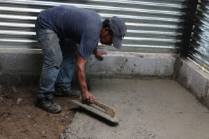 Something as simple as a concrete floor can be make a difference for a family struggling with poverty.