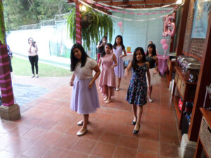 A special dance together for Jennifers Quinceañera.