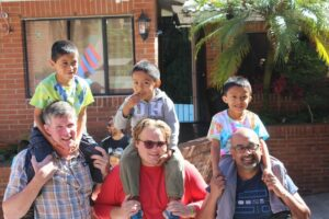 Spending time with children at Dorie's Promise
