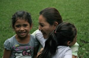 Alejandra with children from Dories Promise