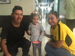 Estela reunited with her Uncle and Aunt