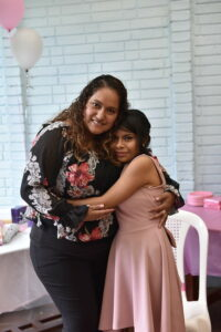 Mama Lorena with Jenny at her Quinceañera.