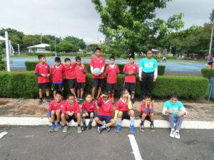Our children attending a summer soccer camp.