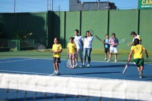 Tennis Lessons for the children of Dorie's Promise.