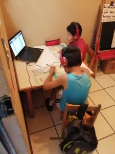 Yire and Abraham Studying