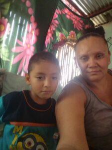 Manuel de Jesu with his Aunt
